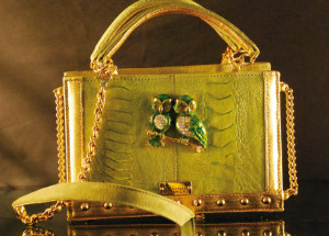 LUXURY BAG IN PELLE DI STRUZZO
